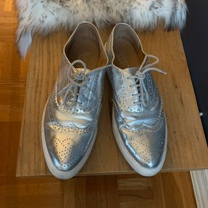 Franco Sarto metallic shoes
